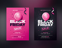 Black Friday Flyer Templates Psd