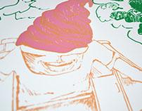 The Ice Cream Man Screen Print