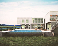 1136-Cayman Islands L'Shaped Contemporary Modern Home
