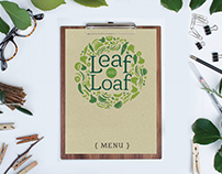 Leaf and Loaf Organic Restaurant Branding