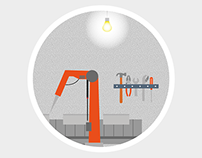 flat industrial illustrations
