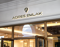 """Adres Emlak ""  Corporate identity design"