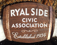 Ryal Side Cedar Sign