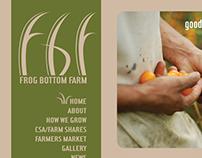 Frog Bottom Farm Logo & Web Design