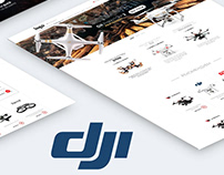 Corporative website for company DJI with catalog