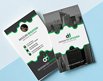 Creative Business card with free mock-up