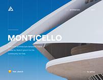 Monticello - Architecture Website Concept (.sketch)