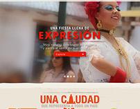 Website Mitad del Mundo.