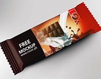 Free Chocolate Bar PSD Mockup