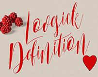 Free Font - Lovesick Definition