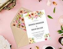 Free Watercolor Floral Wedding Invitation Template V2