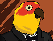 Bird Butler Illustration