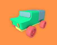 3D Car Toy Model