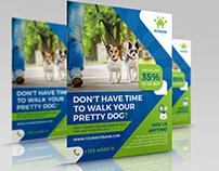 Dog Walker Services Flyer Template