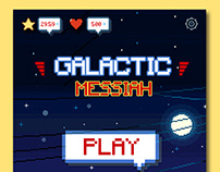 Galactic Space Shooter Game UI Design