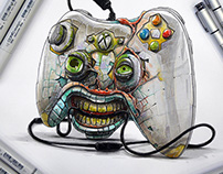 Xbox controller turn into an agressive zombie