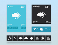 Free Flat Weather Widget PSD