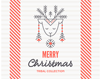 ANCIENT CHRISTMAS: Set of Icons and Design Layouts