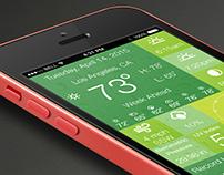 UI/UX WeatherPulse Mobile App Concept