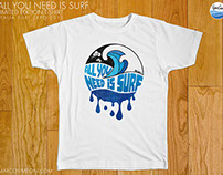 ALL YOU NEED IS SURF (2015 limited edition t-shirt)
