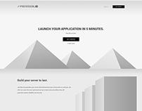 Provision.io Homepage