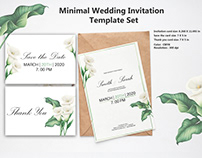 Minimal Wedding Invitation card