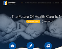 Simple website for medical alliance.