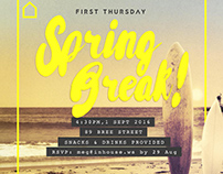 Spring Break First Thursday Party Invite
