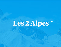 Les 2 Alpes Redesign - XD Daily Challenge July 2019