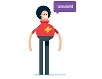 Flat Design Character Illustration