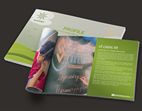 Profile design - Student event company
