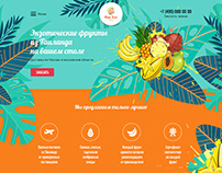 Exotic fruits boxes landing page
