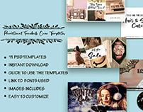 Promotional Facebook Cover pack template