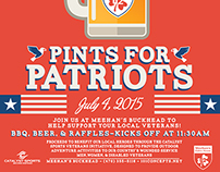 Pints for Patriots Graphics