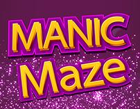 Manic Maze Game UI Design