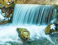 Small mountain waterfalls