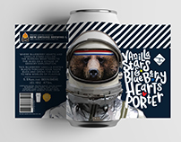 Vanilla Stars and Blueberry Hearts Porter Label