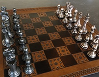 Cast Iron vs. Bronze Chess Set