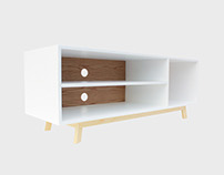 White and Oak Aria Sideboard