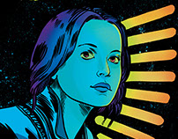 "Jyn Erso ""I Rebel"" Rogue One. Star Wars art print."