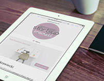 Webpage design for tailoring start-up