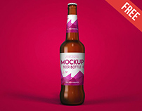 Free Beer Bottle Mock-up in PSD