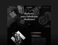 Jackson Barbershop - Web Design