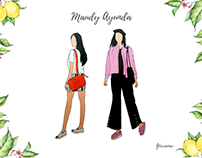 Maudy Ayunda - Fashion Illustration