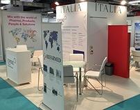 CPhI Italian Trade Agency Faır stand