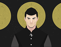 Series of portraits in Game of Thrones theme
