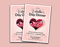 Valentine Day Menu Card