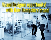 Visual Designer position available!!