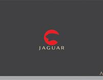 jaguar logo in negative space theme