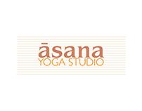 āsana yoga studio   Branding & Web Design
